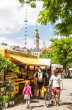 Viktualienmarkt in Munich Royalty Free Stock Image