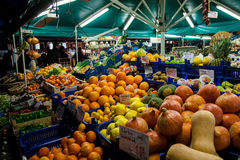 Viktualienmarkt stand Stock Photo