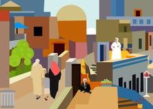 Vila árabe colorida ilustração royalty free