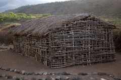 Vila 002 do Masai Imagens de Stock