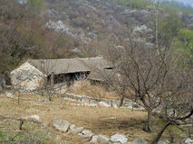 Vila abandonada Fotografia de Stock