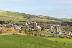 Vila Abbotsbury Inglaterra Reino Unido de Dorset no campo Foto de Stock