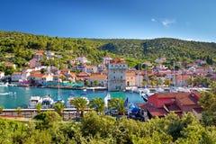 Vila adriático do porto perto de Trogir Imagem de Stock