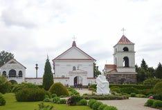 Vila agradável de Mosarin Bielorrússia, arquitetura velha e lugar da peregrinação fotografia de stock royalty free