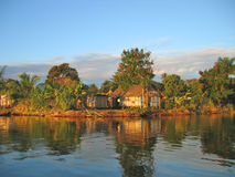 Vila agradável pequena do pescador Foto de Stock Royalty Free