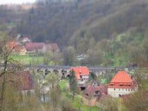Vila alemão tradicional Fotos de Stock Royalty Free