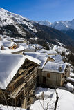 Vila alpina Fotografia de Stock Royalty Free