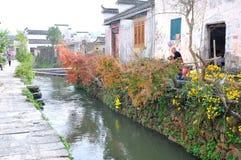 Vila antiga chinesa - vila de Pingshan Foto de Stock