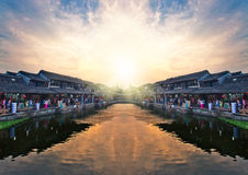 A vila antiga de China Imagens de Stock Royalty Free