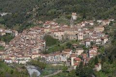 Vila antiga de Pigna, província dos impérios, Itália Imagens de Stock Royalty Free