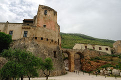 Vila antiga do venafro, Molise imagens de stock royalty free