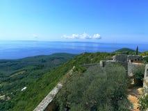 Vila av Alis Pashas fästning royaltyfri bild