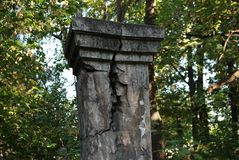 Vila av kolonnen - bakgrund, tappning royaltyfri bild