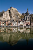 Vila Bélgica de Dinant fotografia de stock royalty free