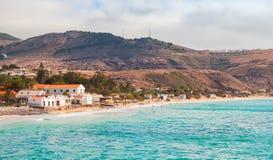 Vila Baleira. Coastal landscape of Porto Santo Stock Photography