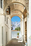 Vila branca em andalucia, Espanha Fotos de Stock Royalty Free