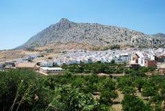 Vila branca, Valle de Abdalajis, Espanha. fotografia de stock