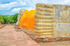 Vila Buddha i det utomhus- Arkivfoto