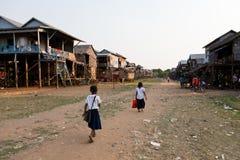 Vila cambojana Imagens de Stock