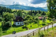 Vila Carpathian fotos de stock royalty free