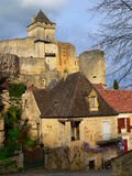 Vila Castelnaud (France) imagens de stock royalty free