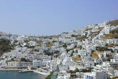 A vila Chora em Astypalaia, Grécia imagem de stock royalty free