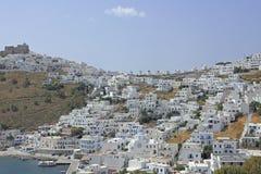 Vila Chora na ilha grega Astypalea Imagem de Stock