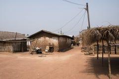 Vila com as plantas de banana em Tafi Atome na região de Volta dentro Foto de Stock Royalty Free