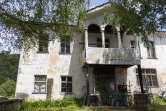 Vila com casas do século XIX, região de Kosovo de Plovdiv, Bulgária imagem de stock royalty free