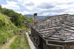 Vila com casas do século XIX, região de Kosovo de Plovdiv, Bulgária foto de stock