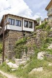 Vila com casas do século XIX, região de Kosovo de Plovdiv, Bulgária imagem de stock