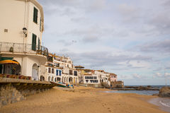 Vila Costa Brava do fisher de Calella de Palafrugell Imagem de Stock Royalty Free