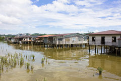 Vila da água, Brunei Fotos de Stock