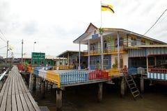 A vila da água de Brunei Darussalam chamou Kampong Ayer em Bandar Seri Begawan Fotografia de Stock Royalty Free