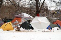 Vila da barraca durante o protesto contra Estugarda 21 fotos de stock
