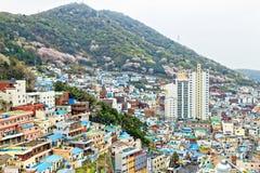 Vila da cultura de Gamcheon em Coreia do Sul imagem de stock royalty free