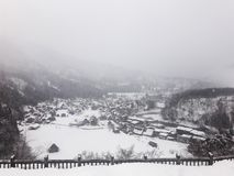 Vila da neve de Shirakawago em Japão fotos de stock royalty free