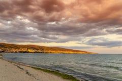 Vila da praia de Suny em Bulgária foto de stock royalty free
