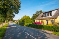 Vila de Askeby em Dinamarca fotografia de stock