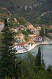 Vila de Assos em Cephalonia Imagens de Stock Royalty Free