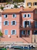 Vila de Assos na ilha de Kefalonia, Grécia Imagens de Stock