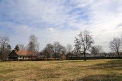 Vila de Auschwitz imagens de stock royalty free