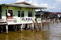 Vila de Ayer do Kampong - Bandar Seri Begawan - Brunei Darussalam Foto de Stock Royalty Free
