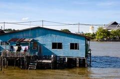 Vila de Ayer do Kampong - Bandar Seri Begawan - Brunei Darussalam Fotos de Stock Royalty Free