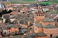 Vila de Ayllon, Segovia (Espanha) imagens de stock