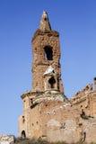 Vila de Belchite destruída em um bombardeio durante a guerra civil espanhola Foto de Stock