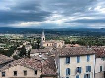 Vila de Bonnieux, Provence e Luberon fotografia de stock