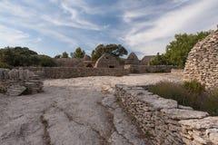 Vila de Bories em Gordes, France Imagem de Stock