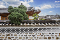 Vila de Bukchon Hanok fotografia de stock royalty free