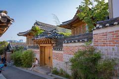Vila de Bukchon Hanok na cidade de Seoul Imagem de Stock Royalty Free